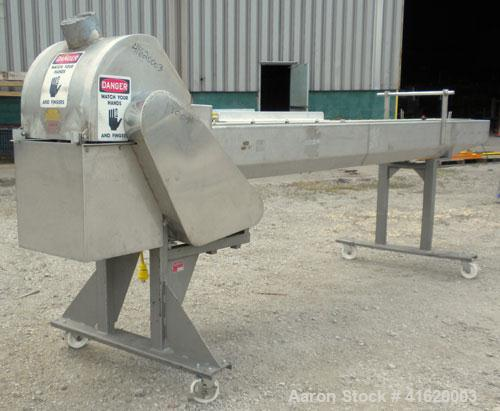 Used- Stainless Steel Wenger Belt Cutting Conveyor, Model 73003-992