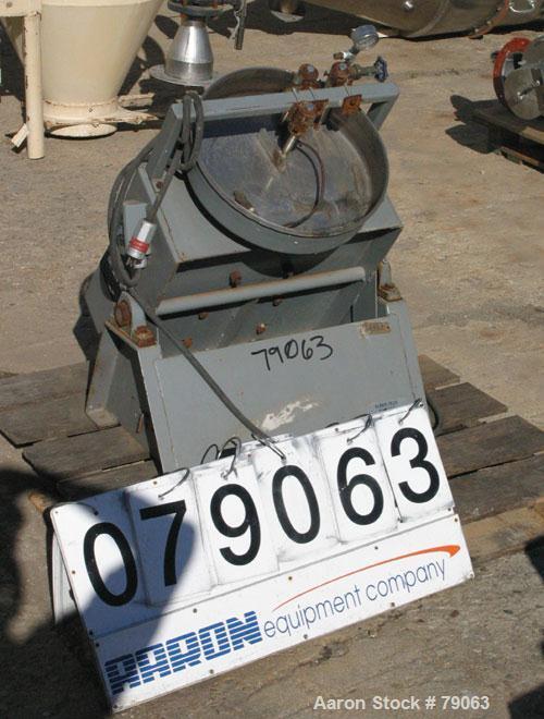 "Used- Ferro Tech Disc Pelletizer, Model FC-016-02. 16"" diameter x 3-1/2"" deep 304 stainless steel pan. 3 adjustable plow arm..."