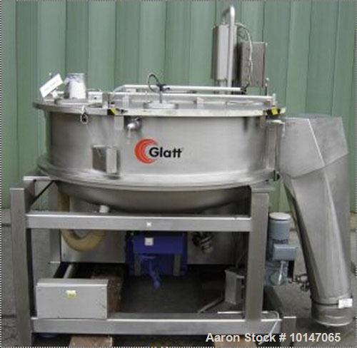 Used-Glatt Systemtechnik GmbH Dresden Noduliser/Spheronizer, type P-140. Material of construction is 316Ti (1.4571) stainles...