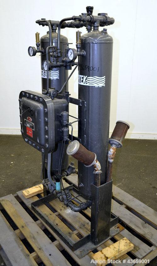 Used- Airtek Heatless Desiccant Air Dryer, Model TW-130-N7. Approximate capacity 135 SCFM at 100 psi. (2) Tanks, XP control ...