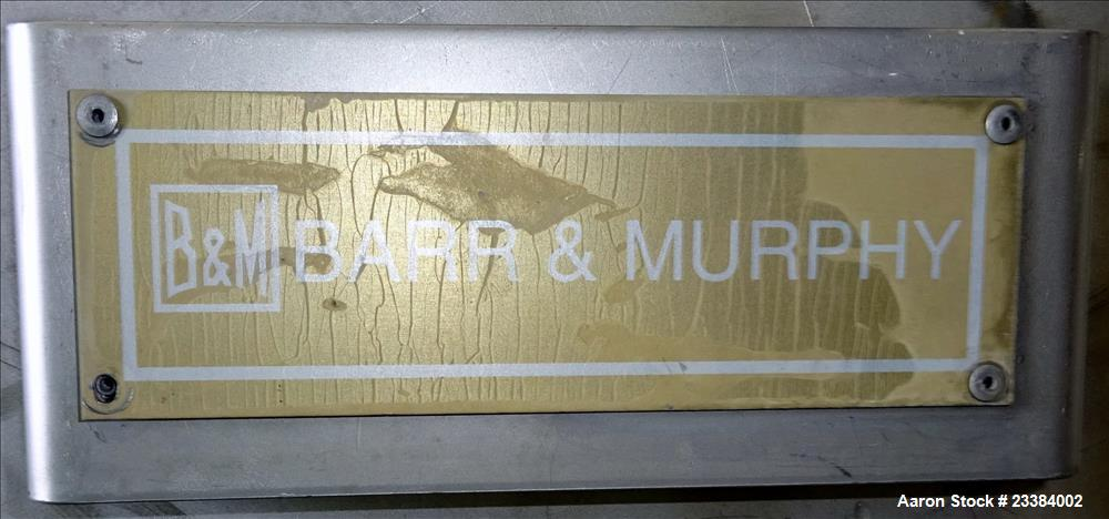 Used- Barr & Murphy Manifold Ring Dryer. 304 Stainless Steel, Includes deflector blades.