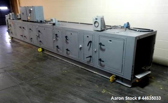 Used- Munters Cargocaire Air Handling Unit, Model IDS-B7-0. With 3hp blower, steam heated pre heater and main heater, humidi...
