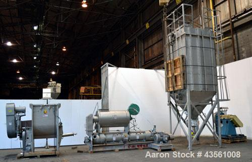 Used- Scott Equipment A.S.T. Air Swept Tubular Drying System, 316 Stainless Steel. Single pass drying with feed material as ...