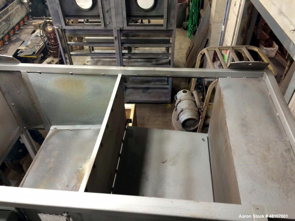 Used- Aeroglide Belt Dryer, Double Pass Conveyor Perforate Belt Dryer. Approximate belt size: 5' wide x 25' long, stainless ...