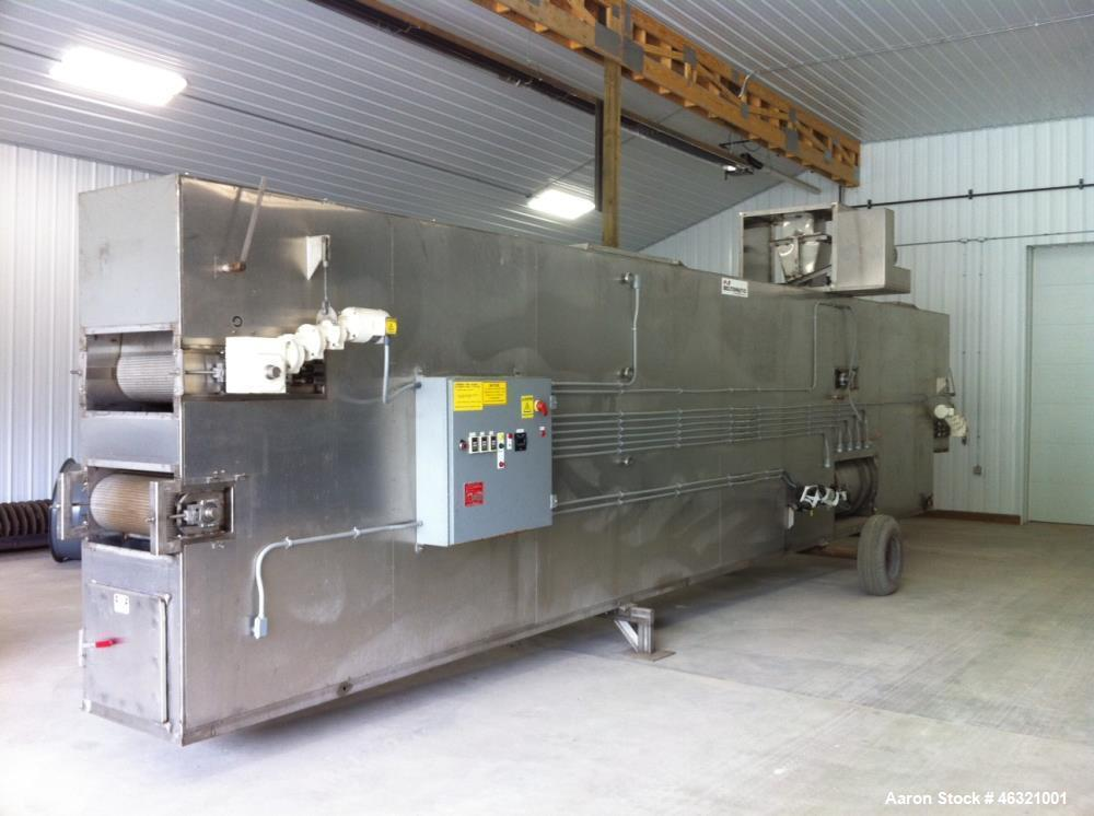 Used Belt-O-Matic Belt Dryer. Model 125B2X. Design: Convection, hot air; 22' long two pass air up drying, 10 long single-pas...