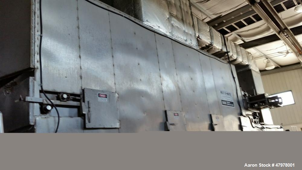 """Used- Belt-O-Matic Horizontal Dehydrator. Model 530B1.66, Frame # 466. Stainless steel. Natural gas, 41'-3"""" long x 9'-6"""" wid..."""