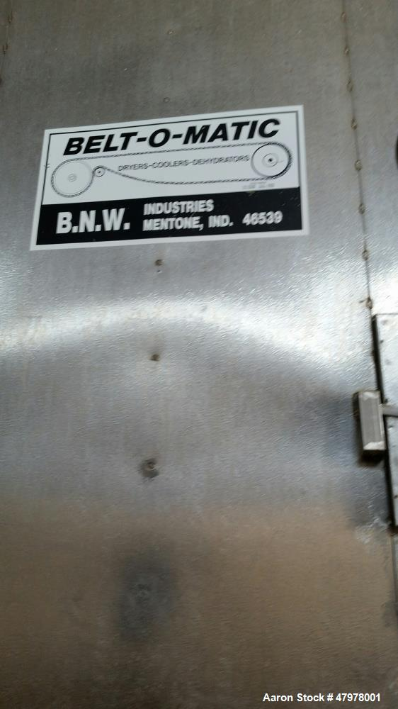 "Used- Belt-O-Matic Horizontal Dehydrator. Model 530B1.66, Frame # 466. Stainless steel. Natural gas, 41'-3"" long x 9'-6"" wid..."