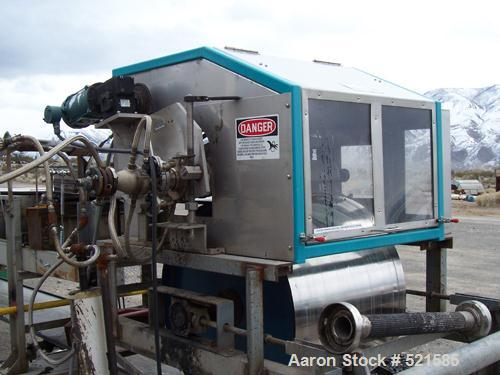 USED: Berndorf AccuDrop rotating head depositor/Pastillator head. Unit continuously deposits uniform droplets onto cooling b...