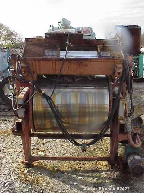 "USED: Berndorf cooling belt. Stainless steel belt on 24"" dia pulleys, 36"" wide x 27'8"" long, with (2) applicator rolls 6"" di..."