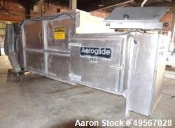 "Used- Aeroglide Conveyor Dryer, Model C1-60-16XXC, Stainless Steel. Perforated belt approximate 60"" wide x 144"" long. Includ..."