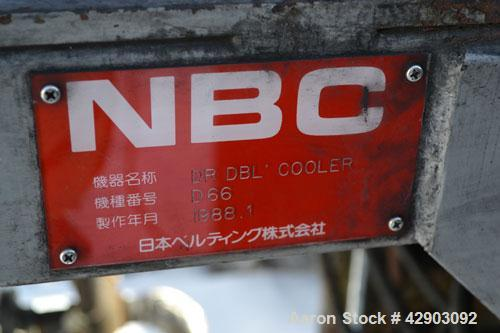 """Used-NBC Double Belt Cooler, Model DR. (2) 17-3/4"""" Wide x approximate 116"""" long stainless steel belts. Each belt mounted on ..."""