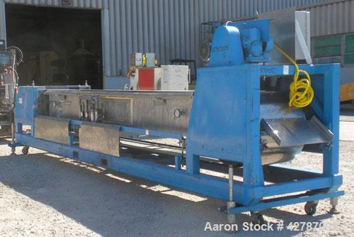 "Used- Sandvik Spray Belt Cooler, 301 Stainless Steel. 19-3/4"" Wide x 180"" long belt. Driven by a 3/4hp, 3/60/208-230/460 Vol..."