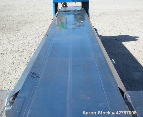 "Used- Sandvik Spray Belt Cooler, 301 Stainless Steel. 19-3/4"" Wide x 180"" long belt. Driven by a 3/4hp, 3/60/208-230/460 Vol..."