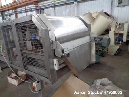 Used- Sandvik 1000mm Wide x 10,000mm Long Stainless Steel Inclined Belt Cooler. Approximately 1950kg/hr throughput capacity....