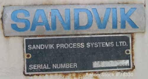 "USED: Sandvik belt dryer, 301 stainless steel. Belt 15-3/4"" wide x17' center to center, bottom up spray cooling, belt tensio..."
