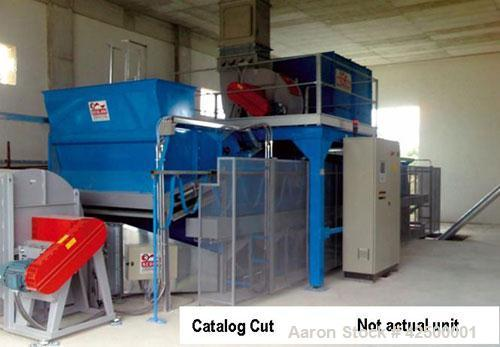 Used-Scolari Flatbed Dryer, model A44CK, 10' wide x 48' long. Rated 600,000 K cal/hour. Dryer uses a leveling auger to distr...
