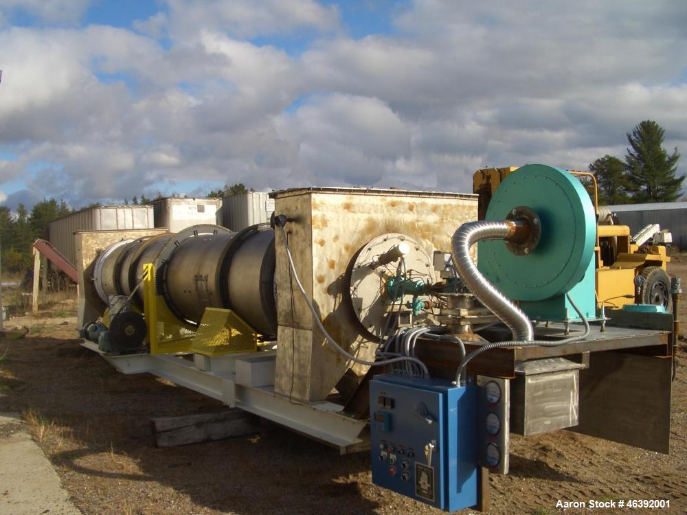 """Used- MineralTex Calciner / Rotary Furnace. Hi-temp stainless steel tube is approximately 27"""" diameter x 20 long. Direct nat..."""