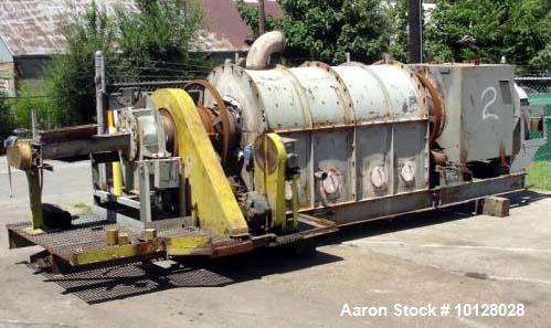 "Used- CO Bartlett and Snow Indirect Fired Rotary Calciner. 14"" diameter stainless steel tube. Hot section is 7' 8"" long and ..."