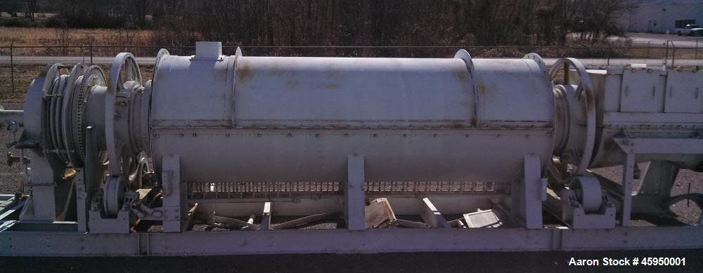"""Used- Bartlett Snow Indirect Fired Rotary Calciner. 304 stainless steel.  Skid mounted, no control panel. Heating area 15 6""""..."""