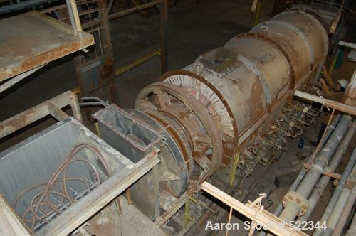 "USED: Bartlett Snow indirect gas fired rotary calciner. 30"" diameter x 31' overall length two zone 14' brick lined furnace. ..."