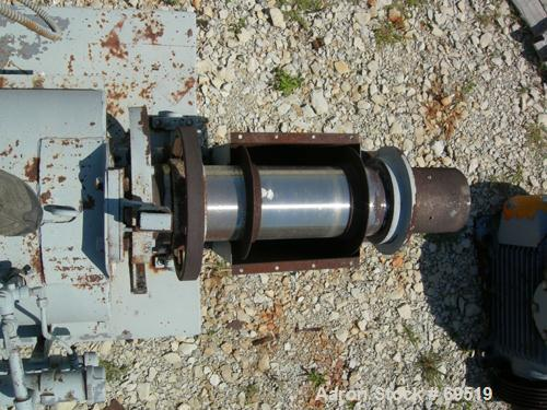 """USED:Bartlett Snow rotary calciner. 6-1/2"""" diameter x 11' long.Refractory lined, tube is constructed of 12% nickel and 25% c..."""