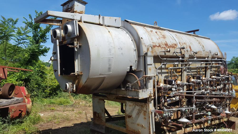 """Used- Coreco Calciner / Dryer, Model 1850 Dryer. Indirect gas fired. Incolloy tube. 48"""" diameter x 25' drum. Control panel."""