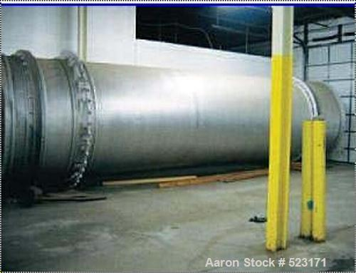 """USED: FMC Roto-Louvre dryer, model 803-33. 5'6"""" diameter x approximately 36' long. Carbon steel construction. Operates at sp..."""