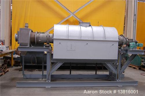Used- Stainless Steel Simon Pilot Indirect Gas Fired Rotary Calciner
