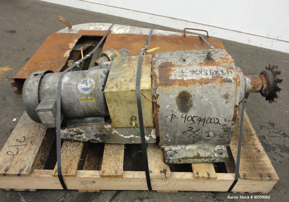 Used- Stainless Steel Reitz/Bepex Torus Disc Dryer, Model TDJS-26-8