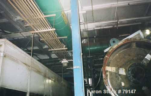 USED: Stord Rotadisc dryer type TST60R. Rotor contains 52 carbon steel discs with stainless steel clad ends. Rated 125 psi a...
