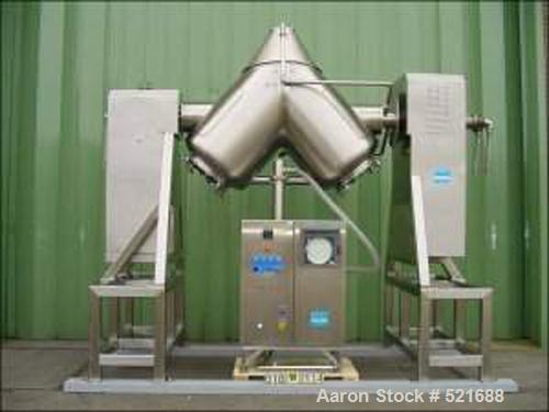 USED: Apex Engineering UK V-blender/dryer, type Granupex GR-311-565. Material of construction is 316 stainless steel on prod...