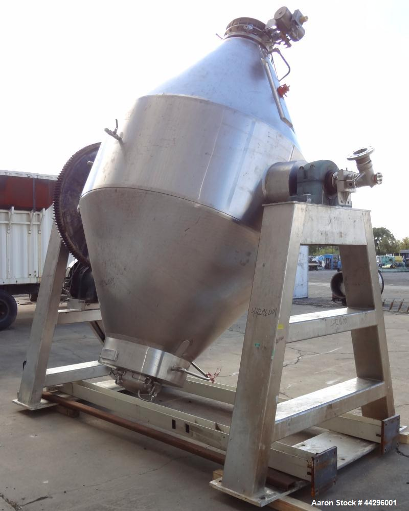 Used- Stainless Steel Gemco Double Cone Vacuum Dryer
