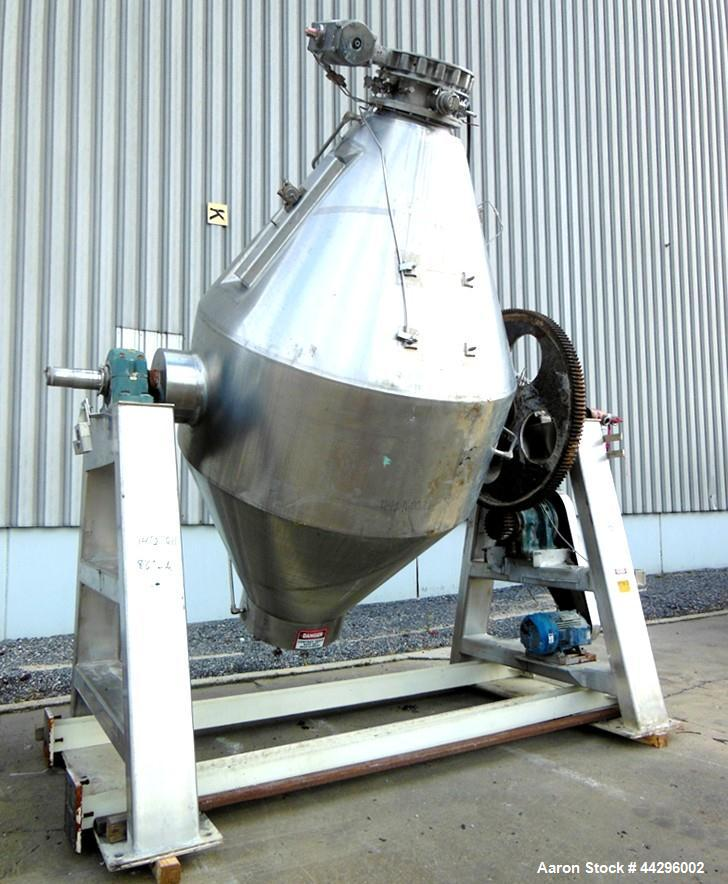 Used- Gemco Double Cone Vacuum Dryer