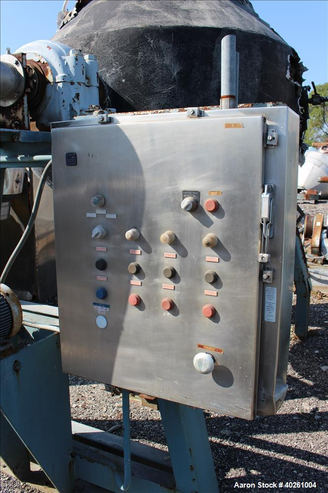 Used- Gemco Double Cone Vacuum Dryer, Model Formulator, Approximately 40 Cubic Feet Working Capacity, 304 Stainless Steel. M...