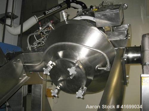 Used- Gemco Slant Cone Vacuum Dryer, 3 cubic feet, model Formulator, Hastelloy C276 on product contact surfaces. Maximum mat...