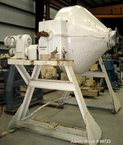 "Used- Gemco Double Cone Vacuum Dryer, Approximate 60 Cubic Feet Working Capacity, 304 Stainless Steel. Approximate 68"" diame..."