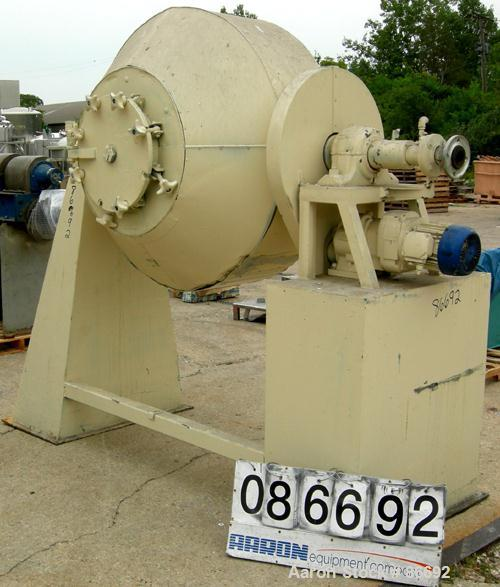 Used- Stainless Steel Klein Henkhaus Double Cone Vacuum Dryer