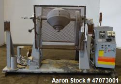 Used- Paul O. Abbe Rota-Cone Vacuum Dryer, Model RCD, 304 Stainless Steel.