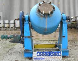 Used- Schwelmer Eisenwerk Glass Lined Double Cone Vacuum Dryer, Model S-M24X80