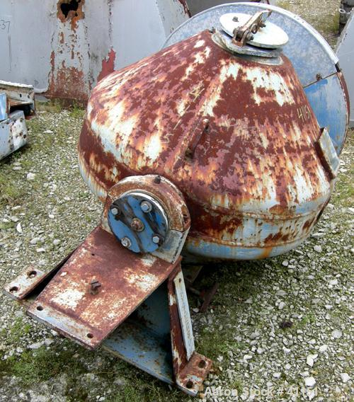 USED:Patterson Foundry double cone vacuum dryer, 8.7 cu ft workingcapacity, 12.4 total, model 124. 304 stainless steel, rate...