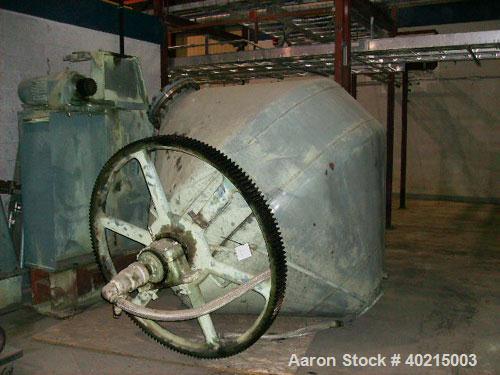 "Used-Patterson Double Cone Dryer, Model 1890. Size 132 cubic feet; 7'6"" Conaform; design pressure 25 psig (jacket side); des..."