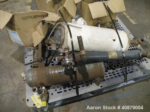 Used- Patterson Kelley Twin Shell Vacuum Tumble Dryer, 10 cubic feet, 316 stainless steel. Internal not rated, 304 stainless...