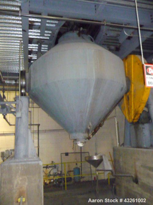 Used- Stainless Steel Patterson-Kelley Double Cone Vacuum Dryer