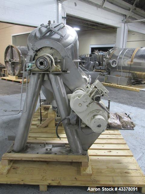Used- Patterson-Kelley Twin Shell Solids Processor, 20 Cubic Feet. Stainless steel construction, 65#/cu ft max density, rate...