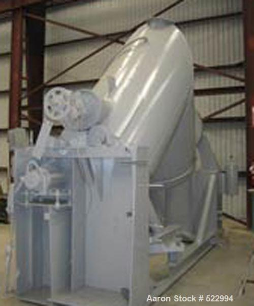 USED: 100 cubic foot Patterson Kelley twin shell vacuum dryer, stainless steel construction. Rated full vacuum internal at 2...