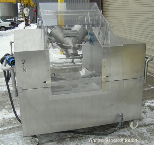 USED: Patterson Kelley mini processor 8 quart (.26 cubic foot) twin shell vacuum dryer, 316 stainless steel. Internal rated ...