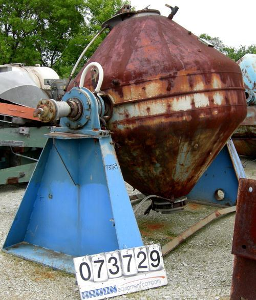 Used- Patterson Process Equipment Double Cone Vacuum Dryer, Type B