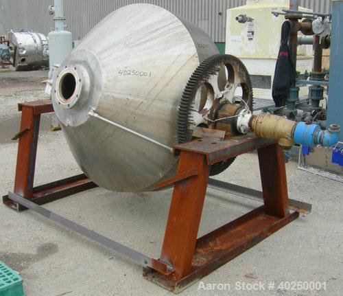 Used- Patterson Pump Company Double Cone Dryer, model 415, 29 cubic feet working capacity, 41.42 total, 316 stainless steel....