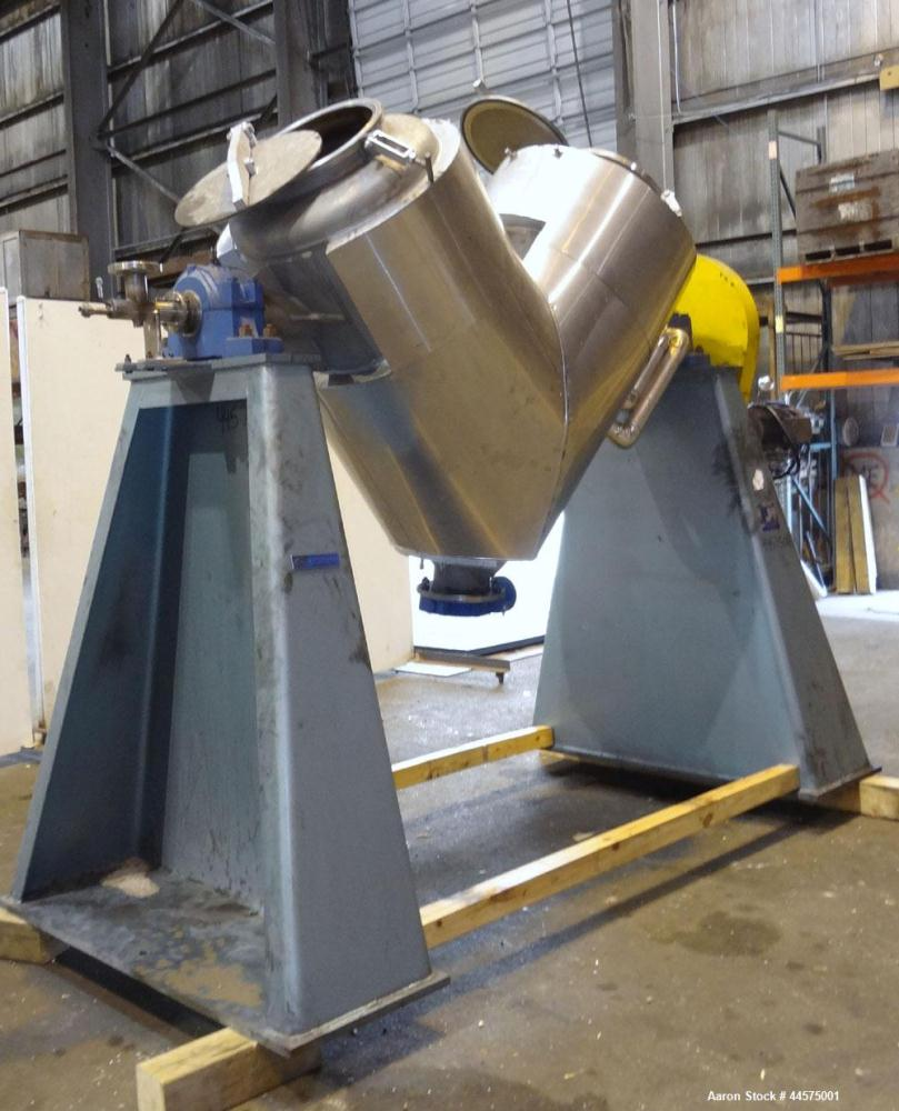 Used- Stainless Steel Patterson Industries Twin Shell Vacuum Dryer