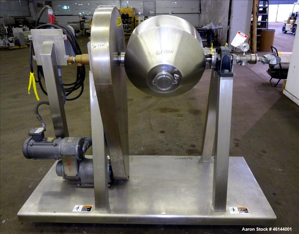Used- Paul O. Abbe Rota-Cone Vacuum Dryer, Model 18RCVD, 316L Stainless Steel. 1.28 Cubic feet working capacity (1.97 total)...